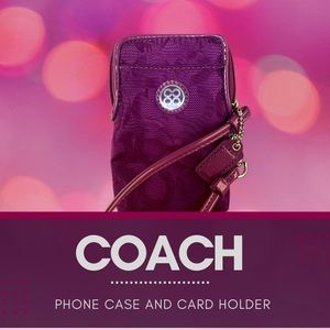COACH PHONE CASE AND CARD WALLET